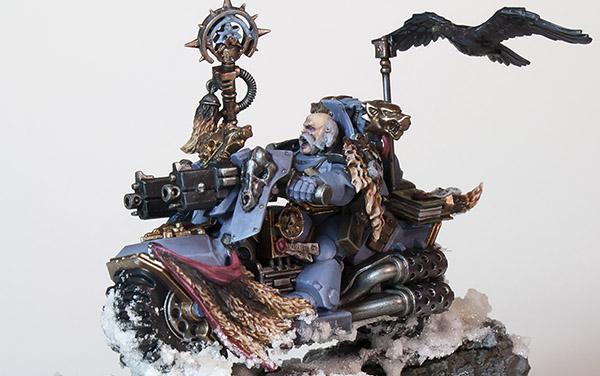 Showcase: Space Wolves Rune Priest Biker